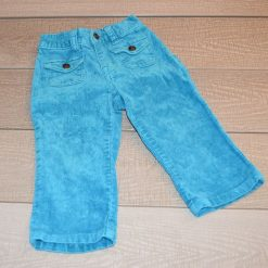 Pantalon velours bleu fille bébé