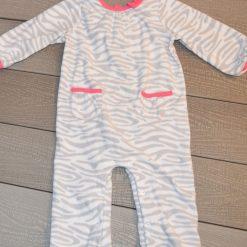 Pyjama zébré gris fille bébé