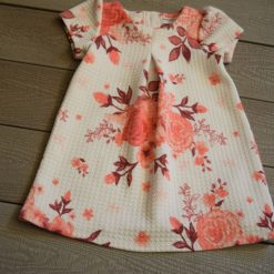Robe fleuri blanc rose fille enfant