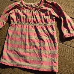 Tunique rayé rose bébé fille