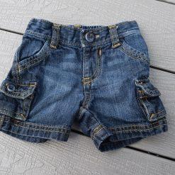 Short jean bleu fille bébé