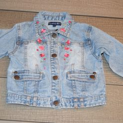 Veste jean bleu fille bébé