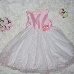 Robe princesse rose et blanc enfant fille