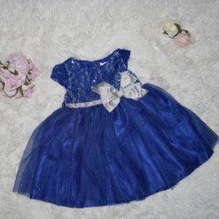 Robe bleu royal enfant
