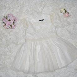 Robe blanche fête enfant