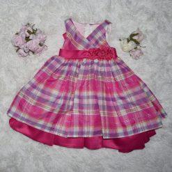 Robe rayé rose d'occasion enfant