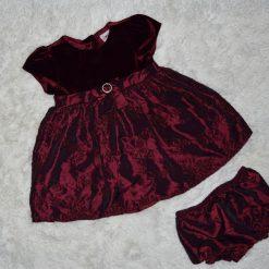 Robe Noel bourgogne enfant