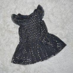 Robe d'occasion noir scintillante enfant