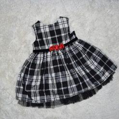 Robe Noel noir et blanc enfant