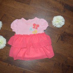 Robe été fleur rose enfant