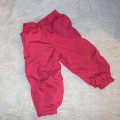 Pantalon coupe vent rose fille enfant