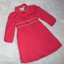 Veste longue rouge fille enfant