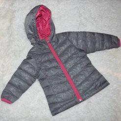 Manteau coupe vent gris fille enfant