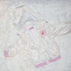 Veste blanc rose fille enfant