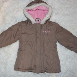 Manteau hiver brun fille enfant
