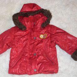 Manteau rouge fille enfant