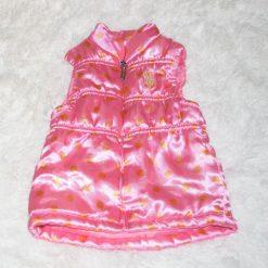 Veste sans manche rose fille enfant
