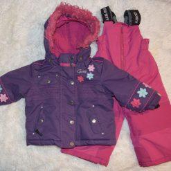 habit de neige mauve et rose fleur fille enfant