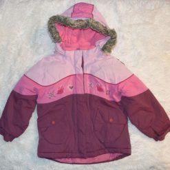 Manteau hiver rose fille enfant