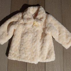 Veste fausse fourrure blanc fille enfant