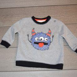 Chandail gris monstre bébé garçon
