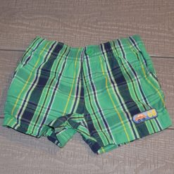 Short vert ligné bébé garçon