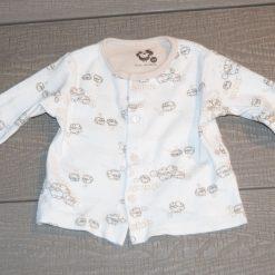 Veste douce blanche bébé garçon