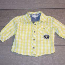 Chemise rayé jaune bébé garçon