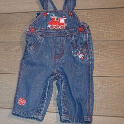 Salopette jean train bébé garçon