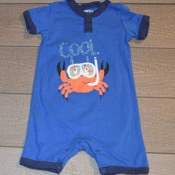 Combinaison bleu crabe bébé garçon