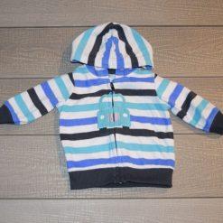 Veste capuchon bleu auto bébé garçon