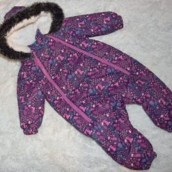 Habit de neige mauve fille bébé