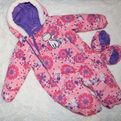 Habit de neige rose fille bébé chat