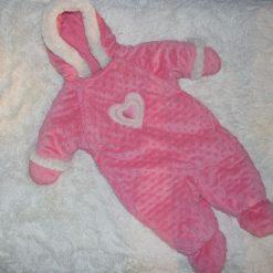 habit de neige chaud fille bébé rose