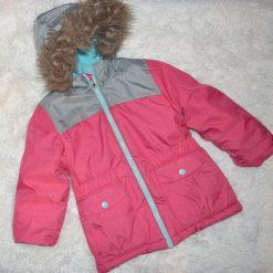 Manteau de neige rose fille enfant