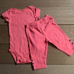 Ensemble cache- couche et pantalon rose fille bébé