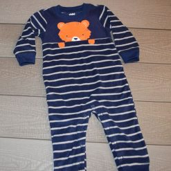 Combinaison polard rayé bleu marin bébé garçon