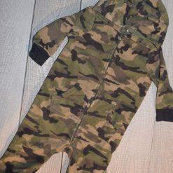 Combinaison camouflage capuchon vert bébé garçon