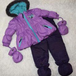 Habit de neige mauve bébé fille