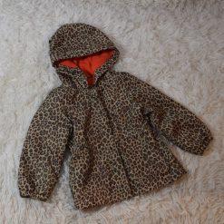 Manteau léopard brun bébé fille