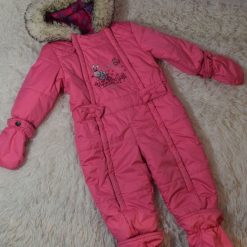 Habit de neige rose bébé fille