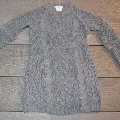 Tunique en laine grise fille bébé F602