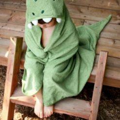 Une sortie de bain dinosaure