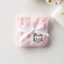 Duo debarbouilletes petit chat rose