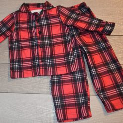 Pyjama carreaux rouge et noir enfant fille